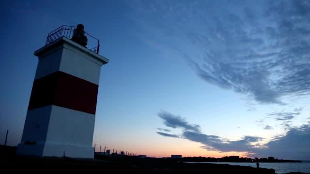 lighthouse on the coast video