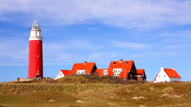 Lighthouse on the island of Texel in The Netherlands video