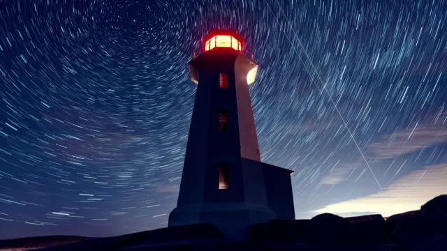 leuchttürme in der stars - leuchtturm stock-videos und b-roll-filmmaterial