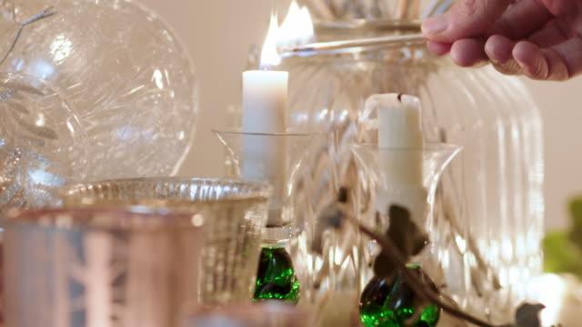 Lighting Christmas candles video