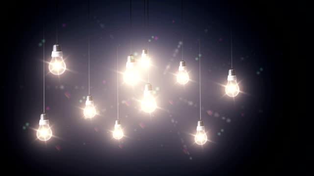 Lighting decor abstract video