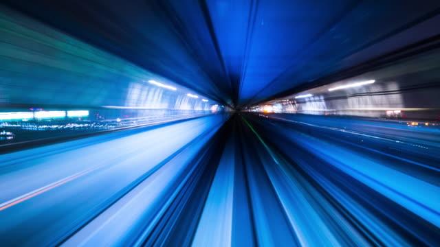 beleuchtung im tunnel - zeitraffer fast motion stock-videos und b-roll-filmmaterial