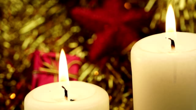 Lighting two Holiday Candles video