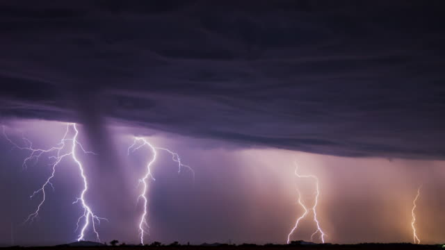 Lightning 4K Short Timelapse of a Storm with Dynamic Clouds and Many Lightning Strikes. The Video can be Looped. lightning stock videos & royalty-free footage