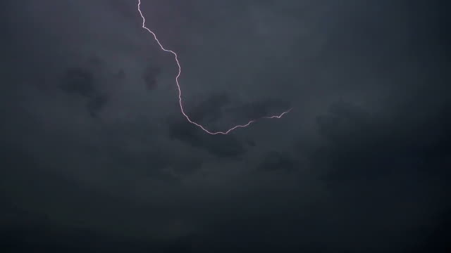 Lightning and storm clouds in Slow Motion video