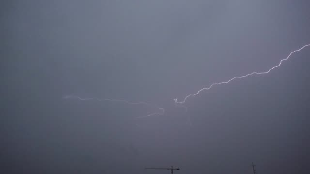 Lightning and storm clouds in Slow Motion Lightning and storm clouds in Slow Motion power supply stock videos & royalty-free footage
