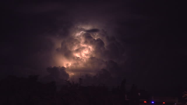 lightning behind cloud - fulmini video stock e b–roll