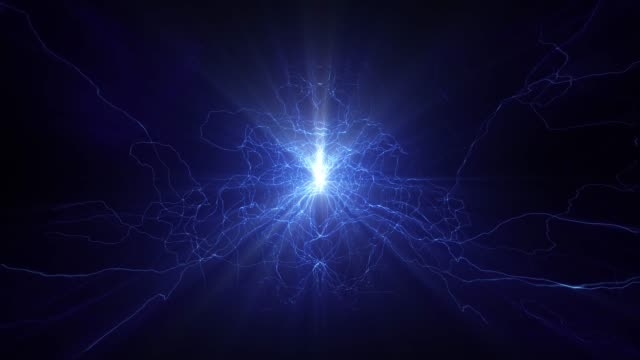 vidéos et rushes de foudre des arcs électriques sci fi puissance réacteur orb tension future tech lueur 4k - électricité