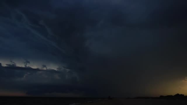 Lightning in the sky. Filming in the summer. video