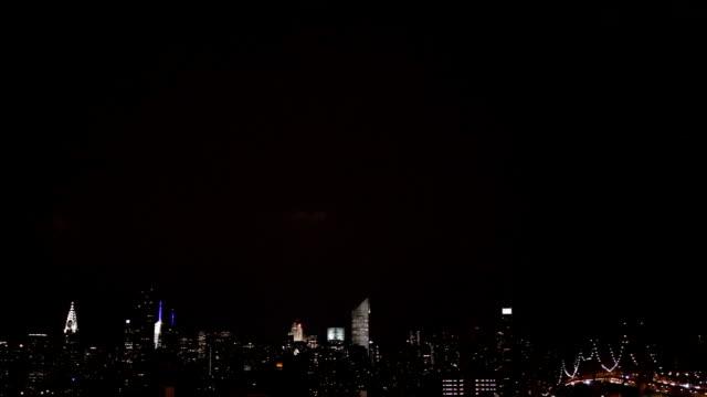 Lightning Over the New York City Skyline video