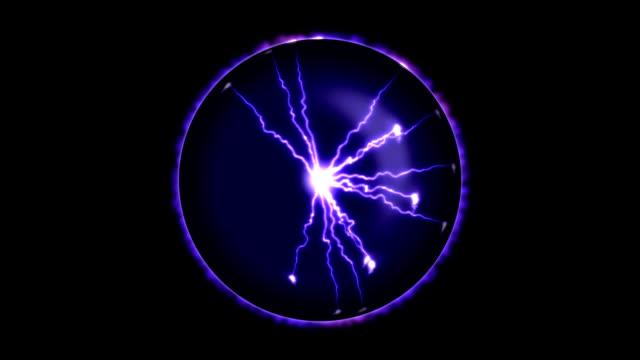 молния сфера-петля - lightning стоковые видео и кадры b-roll