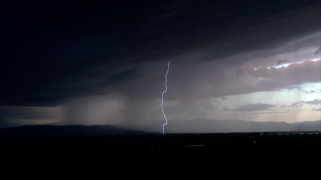 lightning storm over country field video
