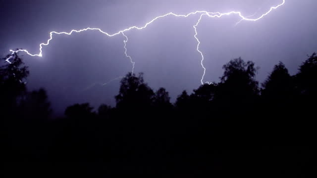 lightning storm - clima video stock e b–roll