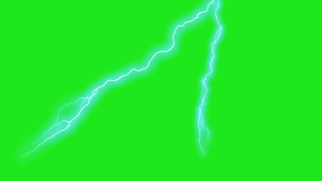 animacje greenscreen uderzeniem pioruna - lightning filmów i materiałów b-roll