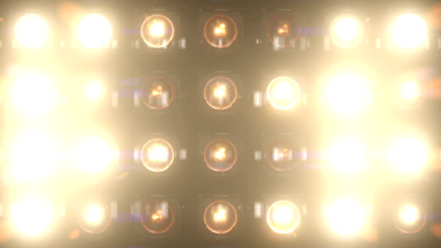 Lights Flashing VJ Loop Glow Stage Wall of Lights Looped stage light stock videos & royalty-free footage