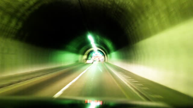 Lights Streaks Through Tunnel video