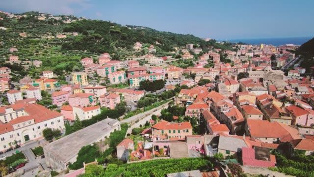 stockvideo's en b-roll-footage met ligurië fort van castelfranco met landschap - raam bezoek