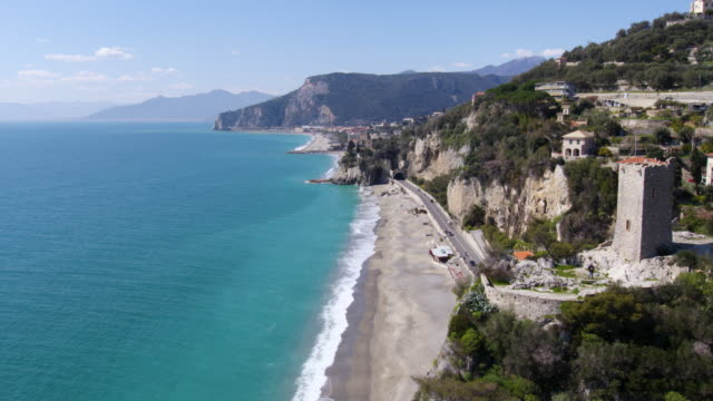 stockvideo's en b-roll-footage met finale ligure in liguria - italië - middellandse zee