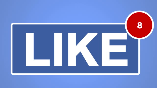 Like button concept animation. video