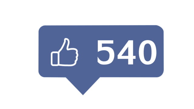 """""""like button"""" with numbers on social network,  on a white background with alpha matte - kciuk filmów i materiałów b-roll"""