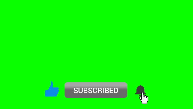 Like Subscribe Ring Bell Lower Third on Green Screen