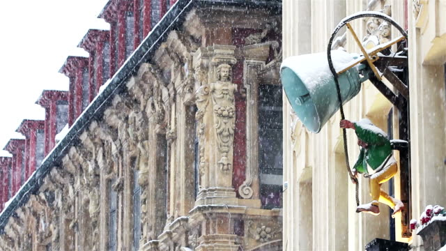 Lille, France : snow fall at Christmas time