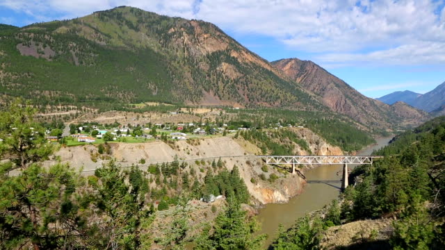 Lillooet, formerly Cayoosh Flat, is a community on the Fraser River in British Columbia, Canada. Lillooet, formerly Cayoosh Flat, is a community on the Fraser River in British Columbia, Canada. fraser river stock videos & royalty-free footage