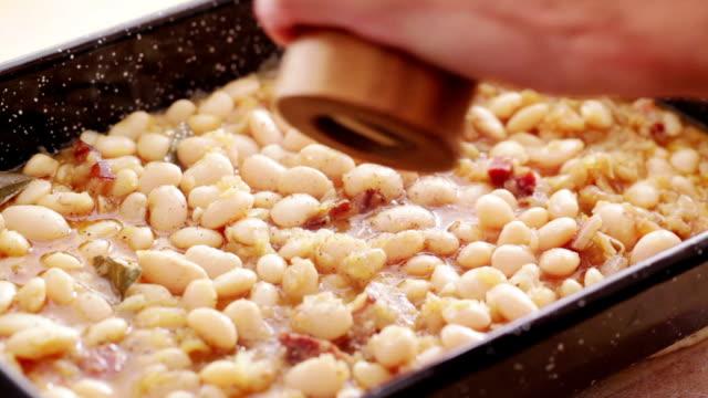 Lima bean in casserole dish