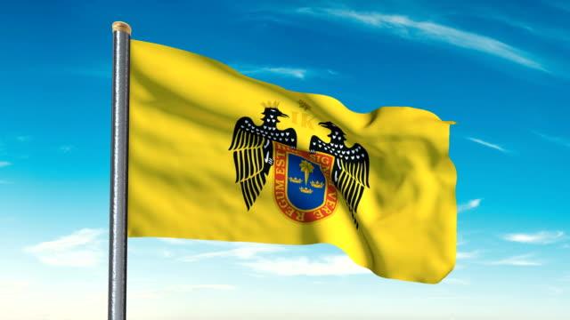 Lima la bandera que agita (luma mate incluido, así que usted puede poner su propio fondo) - vídeo