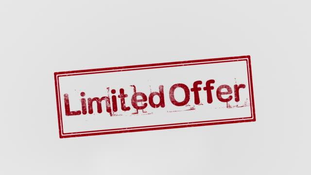 limited offer - proibizione video stock e b–roll