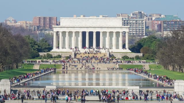 Lincoln Memorial at the National Mall. Washington DC video