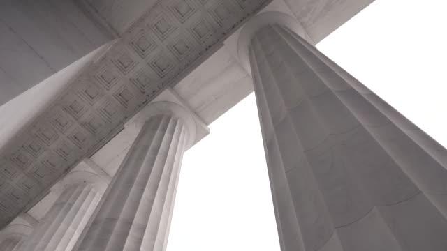 colonne commemorative di lincoln - monumento video stock e b–roll