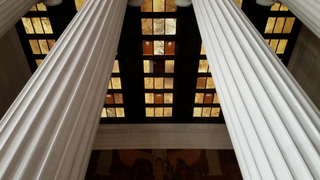 Lincoln Memorial Gettysburg Address in Washington, DC - Tilt Down Interior of the Lincoln Memorial Tilt Down to Gettysburg Address in Washington, DC architectural column stock videos & royalty-free footage
