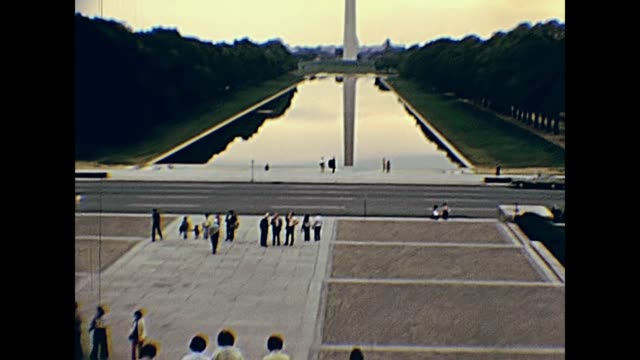 lincoln memorial reflecting pool - vintage architecture stock videos & royalty-free footage