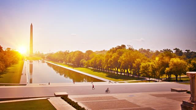 Lincoln Memorial Reflecting Pool. Washington Monument.