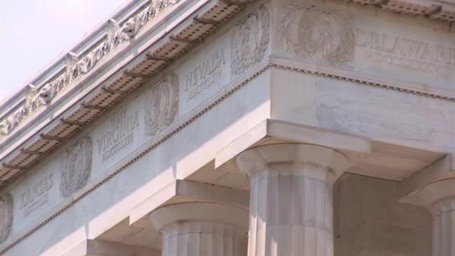 Lincoln Memorial - top pan video