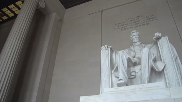 Lincoln Memorial, Washington D.C. The Lincoln Memorial in Washington DC statue stock videos & royalty-free footage