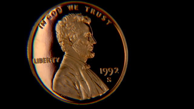Lincoln Penny HD close-up video