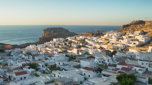 Lindos, Rhodes, Greece (Timelapse 4K) video
