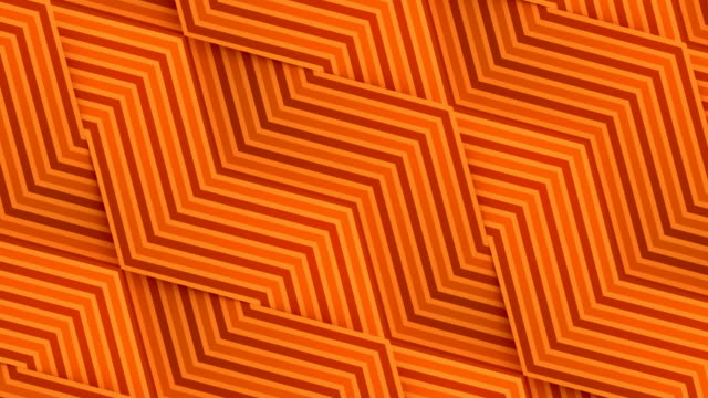 Line art striped geometric pattern for background design. Digital seamless loop animation. 3d rendering. HD resolution