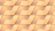 istock Line art striped geometric pattern for concept design. Digital seamless loop animation. Endless striped background. 3d rendering. 4K, Ultra HD resolution 1274017019