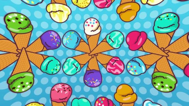 vídeos de stock, filmes e b-roll de linha de sorvete [loop] - gelato