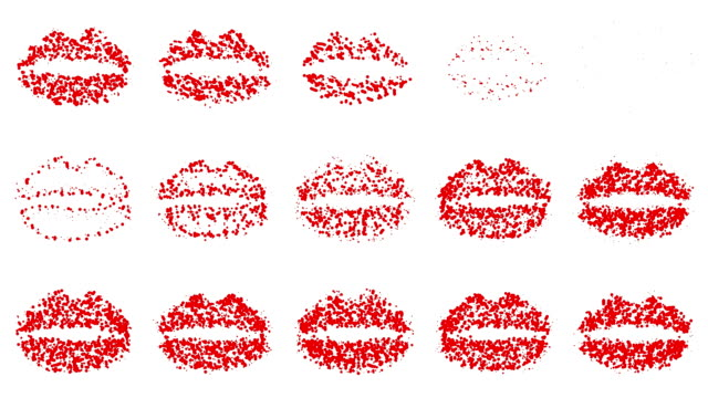 LIPS : line, red and white (LOOP) video