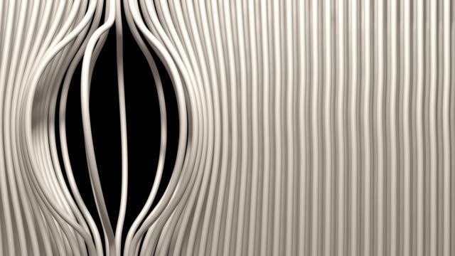 Linear striped abstract curtains