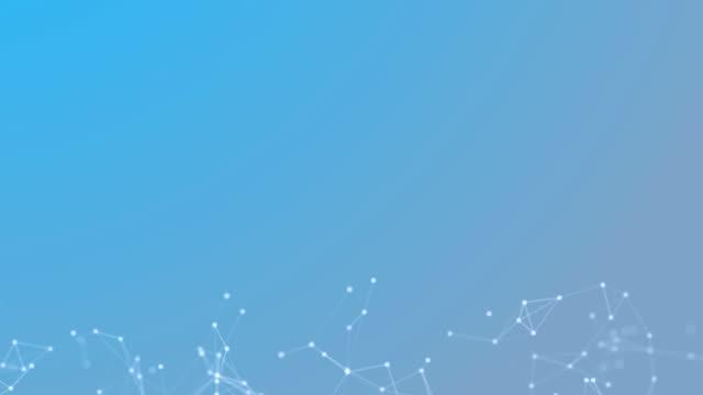 linjer och prickar teknik futuristiska nätverk plexus abstrakt blå bakgrund 3d-animering 4k - nod bildbanksvideor och videomaterial från bakom kulisserna