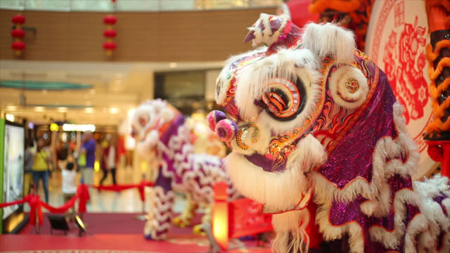 Lion Dancing in the public place video