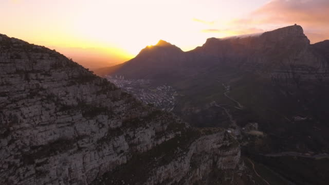 Lion's Head high Aerial drone footage of Lion's Head, Cape Town, South Africa cape town stock videos & royalty-free footage