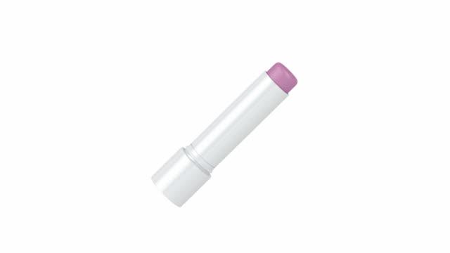 Lip balm stick Lip balm stick, spins on white background lip balm stock videos & royalty-free footage