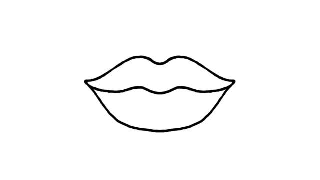 Lips kissing
