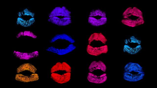 lips - människoläppar bildbanksvideor och videomaterial från bakom kulisserna